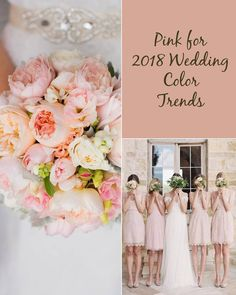50+ Prettiest Spring Wedding Color Inspirations for 2018 Trends - Wedding Invites Paper pink wedding bridesmaid dresses/ shade of pink wedding bouquets
