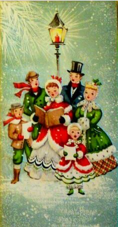 What is it? Christmas carolers. People go from door to door singing Christmas songs. #Christmas