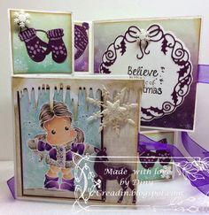 Purple Christmas. gemaakt door Diny