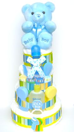 Baby Boy Diaper Cakes | Boy Diaper Cakes | Baby Shower Diaper Cakes | Baby Boy Gifts | Unique ...
