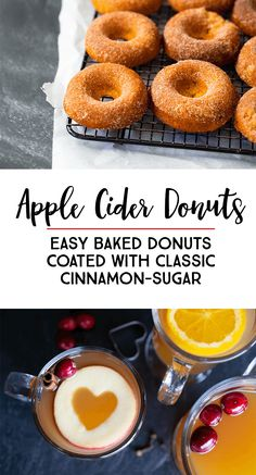 Baked Apple Cider Donuts With Classic Cinnamon and Sugar Coating: This recipe is a MUST TRY autumn family tradition *Love these ideas and how easy these baked donuts look! Easy Baking Recipes, Donut Recipes, Baker Recipes, Party Recipes, Breakfast Specials, Apple Cider Donuts, Baked Donuts, Baked Apples, Cupcake Cakes