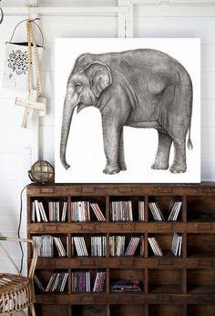 """I have a memory like an elephant. I remember every elephant I've ever met"" - HERB CAEN -"