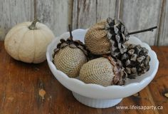 Acorn Craft DIY -How to make an acorn out of a plastic Easter Egg, perfect for all your Fall decorating.