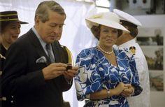 Prins Claus en Koningin Beatrix tijdens het officiele bezoek aan Australië, 1988.