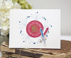 Happy 4th Of July Card by Ashley Cannon Newell for Papertrey Ink (May 2013)