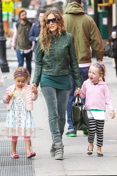 Sarah Jessica Parker with the twins