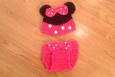 Minnie Mouse hat and diaper cover photo by MimisClosetBoutique