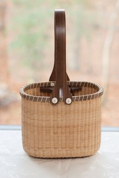 Nantucket Lightship Wine Carrier Basket