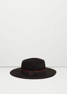 Wool fedora hat | MANGO