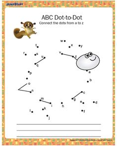 ABC Dot-to-Dot - Printable Kindergarten Worksheet