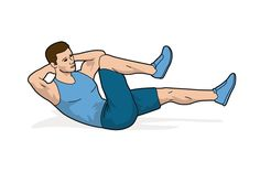 Bauch-Workout Illustration
