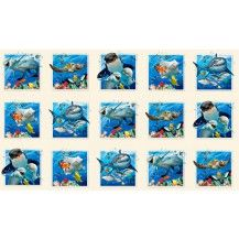 Ocean Selfies Fabric Panel - Cream