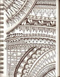 Practice Page with 9 New Patterns! (Line Weaving)