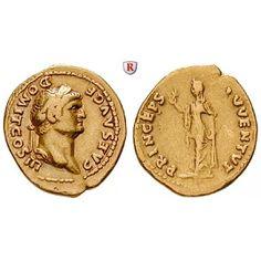 Römische Kaiserzeit, Domitianus, Caesar, Aureus 74, ss+: Domitianus, Caesar 69-81. Aureus 21 mm 74 Rom. Kopf r. mit Lorbeerkranz… #coins