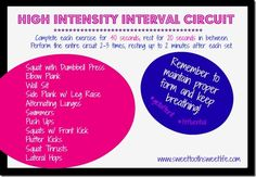 This high intensity interval circuit workout includes plenty of bodyweight exercises to get the blood pumping! High Interval Training, Personal Trainer Website, Back Exercises, Circuit Exercises, Good Fats, I Work Out, Gain Muscle, Health And Wellbeing, Going To The Gym