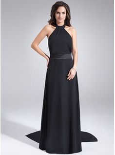 Mother of the Bride Dresses - $153.99 - A-Line/Princess Halter Watteau Train Chiffon Charmeuse Mother of the Bride Dress With Ruffle  http://www.dressfirst.com/A-Line-Princess-Halter-Watteau-Train-Chiffon-Charmeuse-Mother-Of-The-Bride-Dress-With-Ruffle-028005027-g5027