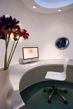 futuristic home office. The Backyard Office Pod Interior Futuristic Home