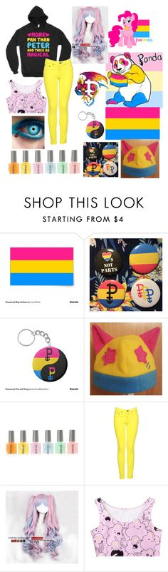 """""""pansexual pride <3"""" by xenomorphs4life ❤ liked on Polyvore featuring rag & bone and Coshome"""