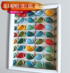 Clever use of toilet paper rolls! –  diy-toilet-roll-nursery-art