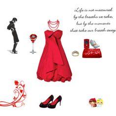 un noche chic #red #chic #glamour #reddress #dress #new #outfit #new #love #misslunasylunares #cool