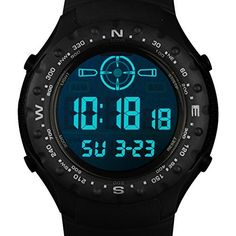 INFANTRY Mens Sport Digital Wrist Watch with Strong Rubber StrapBlack * Details can be found by clicking on the image.Note:It is affiliate link to Amazon.