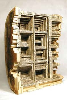 """Altered Books by Brian Dettmer.  When I say """"altered book,"""" this is not what I mean.  I wish I could do this type of detailed work!  Fantastic!"""