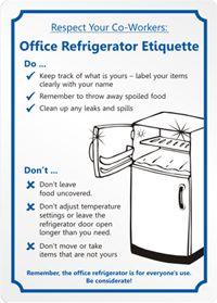 Office Refrigerator Etiquette