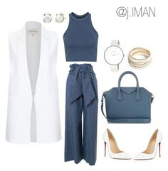 """""""Untitled #32"""" by j-imaan ❤ liked on Polyvore featuring MSGM, Topshop, River Island, Christian Louboutin, Givenchy, ZooShoo, Skagen, women's clothing, women and female"""