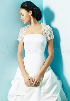 spring/fall white Short Sleeves Collarless Lace Wrap