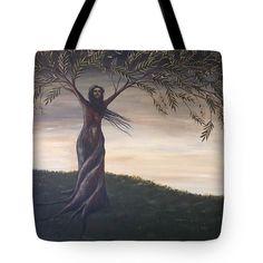 Olive Tree Fine Art Tote Bag Surreal Landscape by annarobertsart