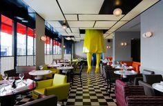 Cafe Germain, Paris.  Interior by India Mahdavi.
