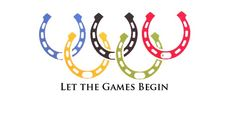 Olympics 2012 horse shoes instead of Olympic rings!