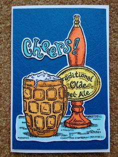 Pint of Beer Birthday Card - male card.