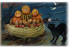 Halloween Postcard, From the Oshawa Community Archives Collection
