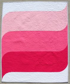 Teaginny Designs: Waves Baby Quilt in Pink (inspiration)