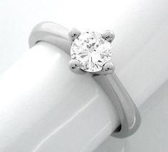 Neu! 1A-Brillant-Solitär-Ring 18K/750 Weissgold! Luxus! - Gold, Platin Schmuck…