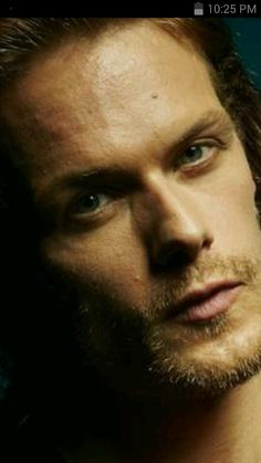 Sam Heughan. .....up close