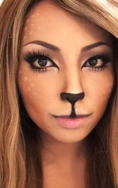 beautiful and cute halloween makeup