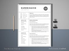 Clean Resume Template 4 Page | CV @creativework247