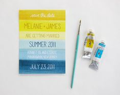 Watercolor Stationery #yellow #blue #camillestyles