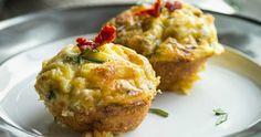 Zucchini cheesy muffins