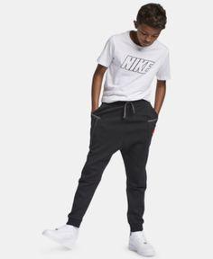 76d5363cea94 Nike Big Boys Sportswear Tech Fleece Pants - Black XL (18 20) Nike
