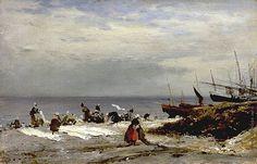 Боголюбов Алексей Петрович [1824—1896] Прачки в Этрета. Утро. 1874