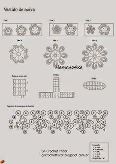 VESTIDO DE NOVIA A CROCHET | Patrones Crochet, Manualidades y Reciclado