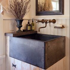 Great rustic sink, cute!