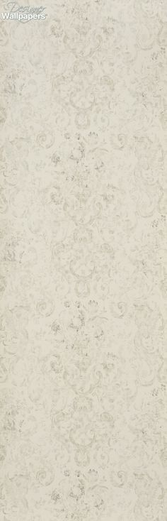ef311af9a6bc A vintage scroll and floral luxury wallpaper which has been skilfully faded  in order to give