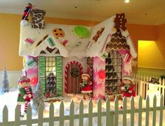 Gingerbread houses are better when they're life-size! @FoundersInn | Virginia, Beach, VA