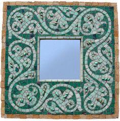 blue mosaic mirror- sundogmosaic