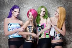 HAIR & COLORING / Agyness Frozen  PHOTOGRAPHY / Ana Mihalić  CLOTHING / BiteMyStyle fashion design - Zoran Aragović   MUA / Juliana Ljubas  MODELS / Marija, Ana, Lana, Andreja