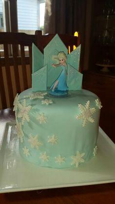 """Elsa """"frozen"""" cake Frozen Cake, Elsa Frozen, Desserts, Tailgate Desserts, Dessert, Deserts, Food Deserts, Postres"""